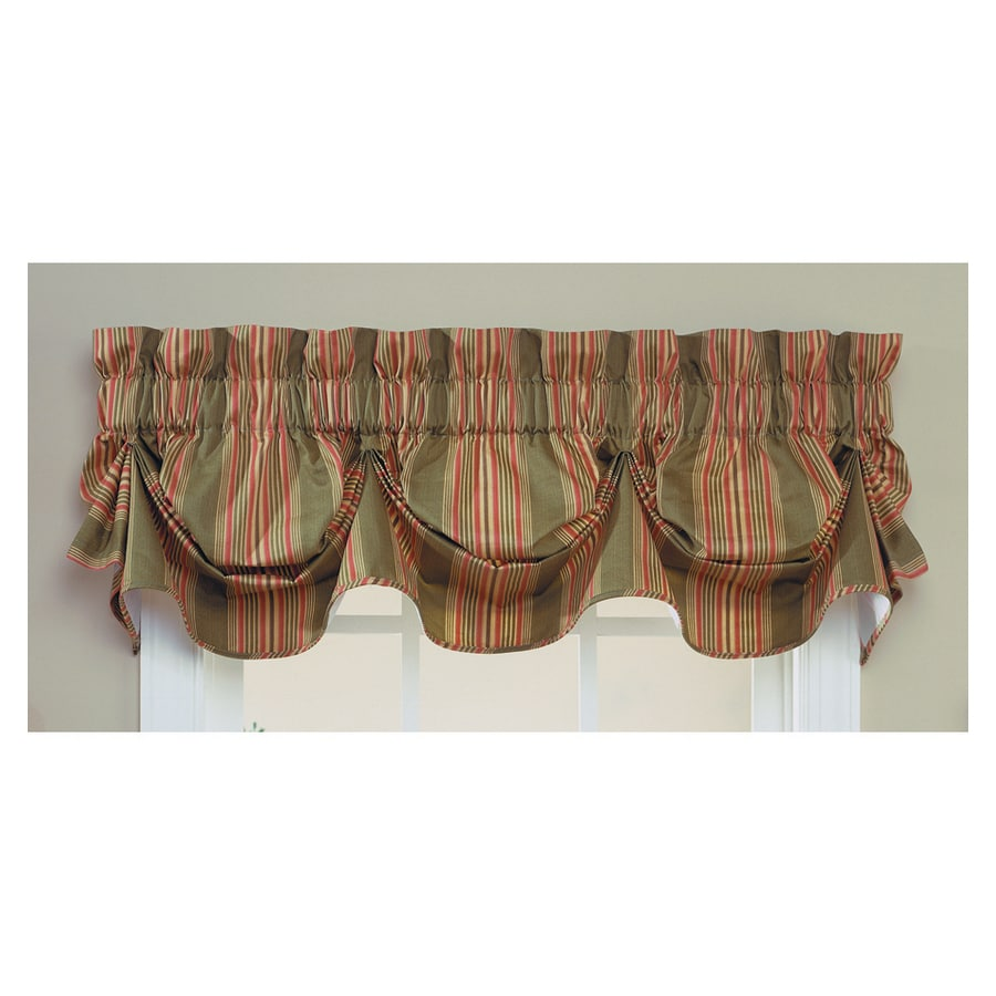 Shop Waverly Home Classics 16 In Olive Cotton Rod Pocket Valance At