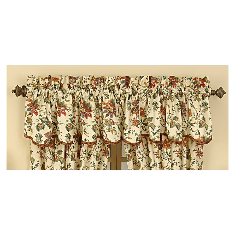 Waverly Home Classics 15-in Creme Cotton Rod Pocket Valance