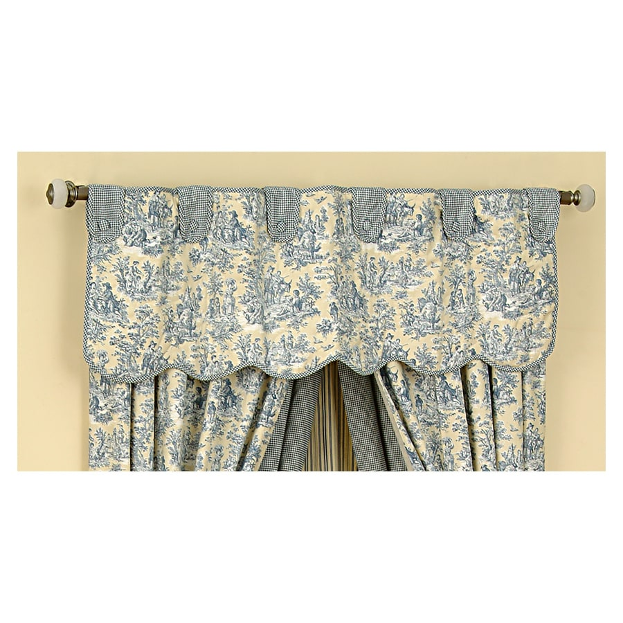 Shop Waverly Home Classics 16 In Lake Cotton Tab Top Valance At