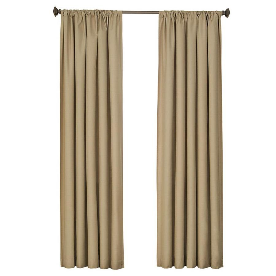 eclipse Kendall 84-in Cafe Polyester Rod Pocket Single Curtain Panel