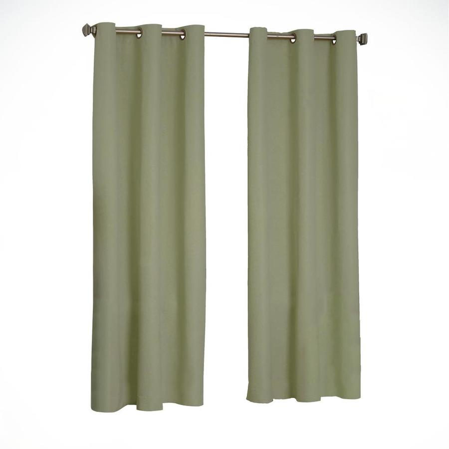 eclipse Microfiber 95-in Moss Polyester Grommet Blackout Single Curtain Panel