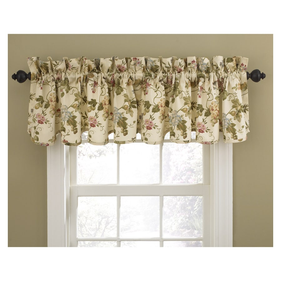 Waverly Home Classics 15-in Cameo Cotton Rod Pocket Valance