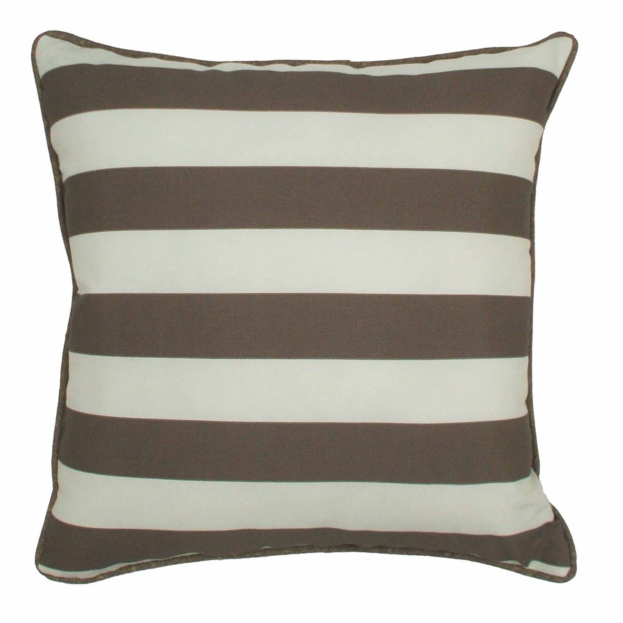 PARASOL 20-in W x 20-in L Bark Square Accent Pillow