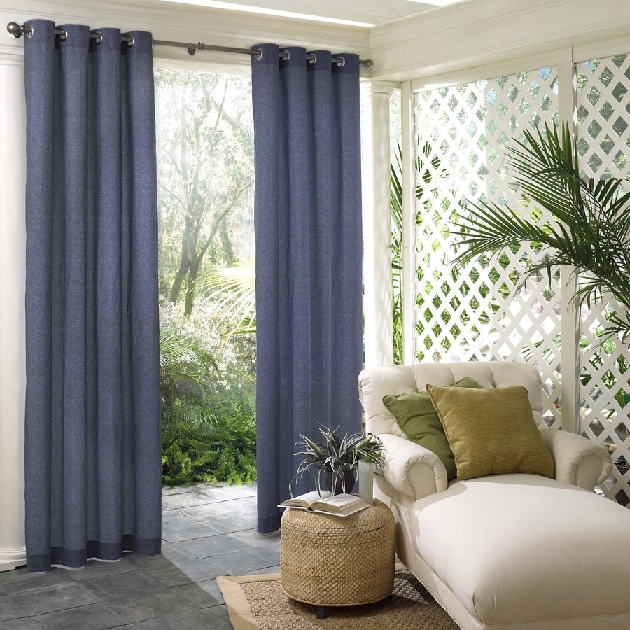 Parasol 96 In L Navy Lake Outdoor Window Curtain Panel