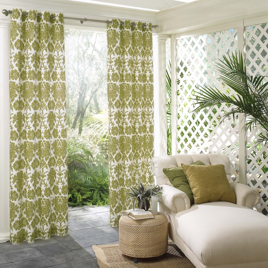 Parasol 108 In L Grass Hannah Outdoor Window Curtain Panel