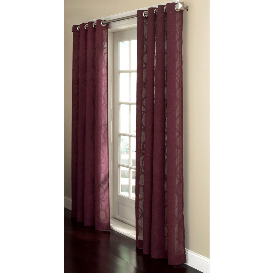 Allen + Roth Anaheim Sheer 84 In Fresh Plum Cotton Grommet Sheer Single  Curtain Panel  Allen Roth Curtains
