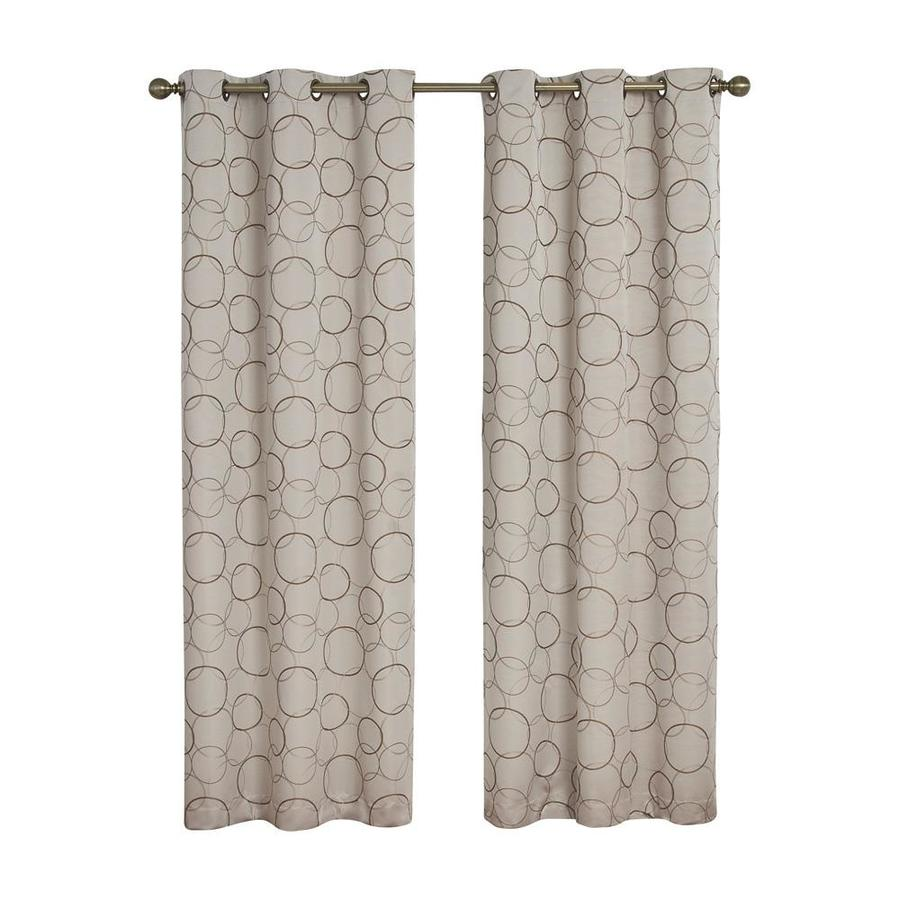 eclipse Meridian 84-in Linen Polyester Grommet Blackout Single Curtain Panel