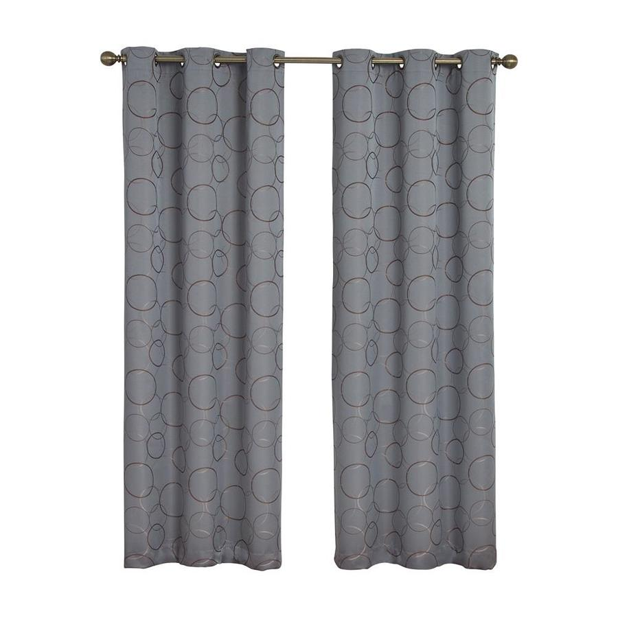 eclipse Meridian 84-in River Blue Polyester Grommet Blackout Single Curtain Panel