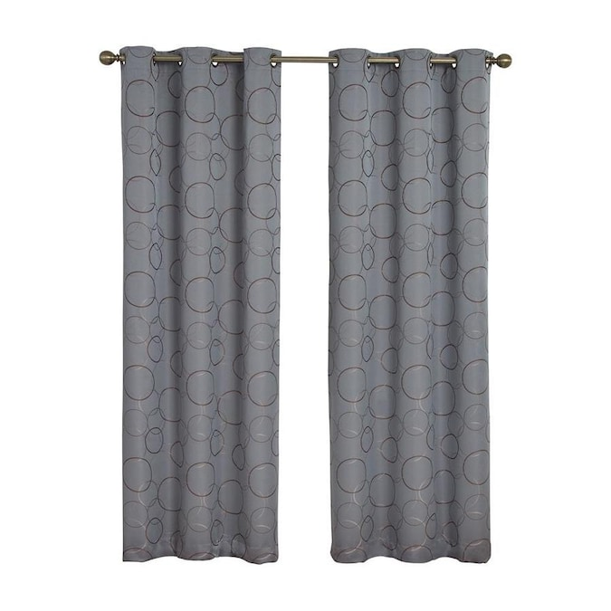 Eclipse 84 In River Blue Polyester Blackout Grommet Single Curtain Panel In The Curtains Drapes Department At Lowes Com