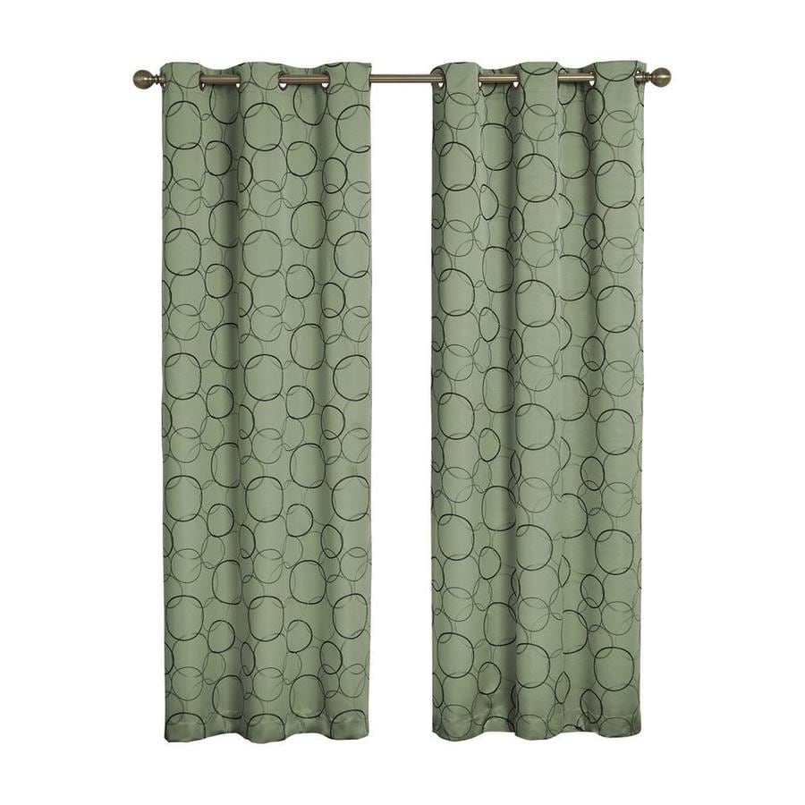 eclipse Meridian 84-in Sage Polyester Grommet Blackout Single Curtain Panel