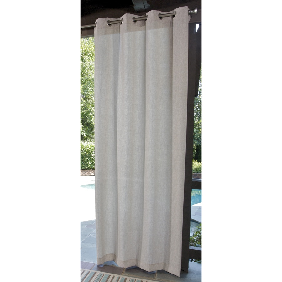 Allen Roth 96 Cream Outdoor Curtain Panel