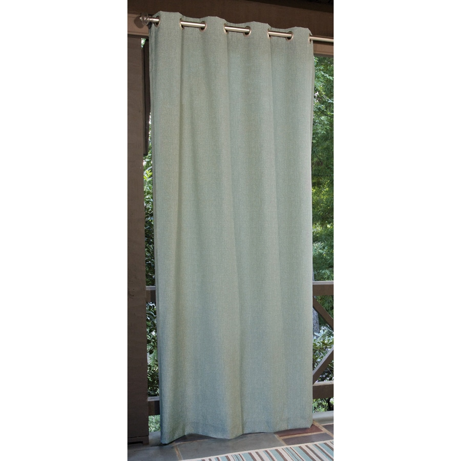 allen + roth 108-in L Aqua Patio Curtains Outdoor Window Curtain Panel