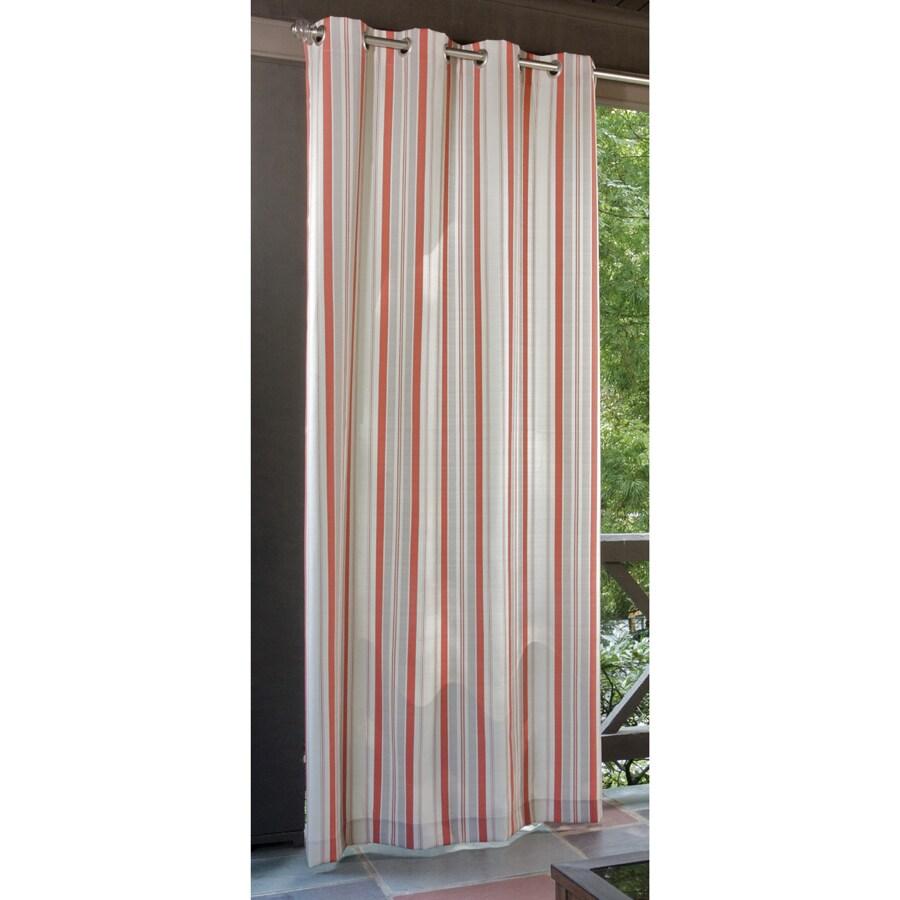 Allen Roth 108 Coral Cream Outdoor Curtain Panel