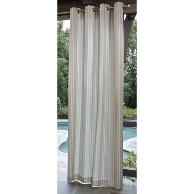 Aqua Cream Outdoor Curtain Panel