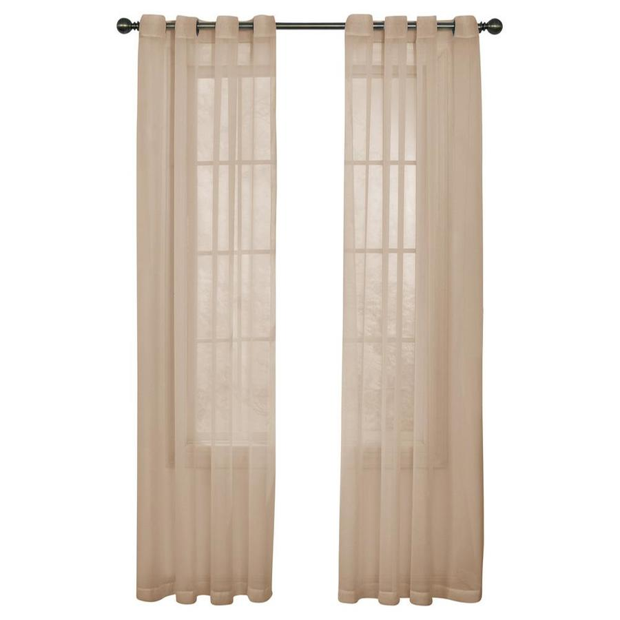 ARM & HAMMER Arm and Hammer 95-in Latte Polyester Grommet Sheer Single Curtain Panel