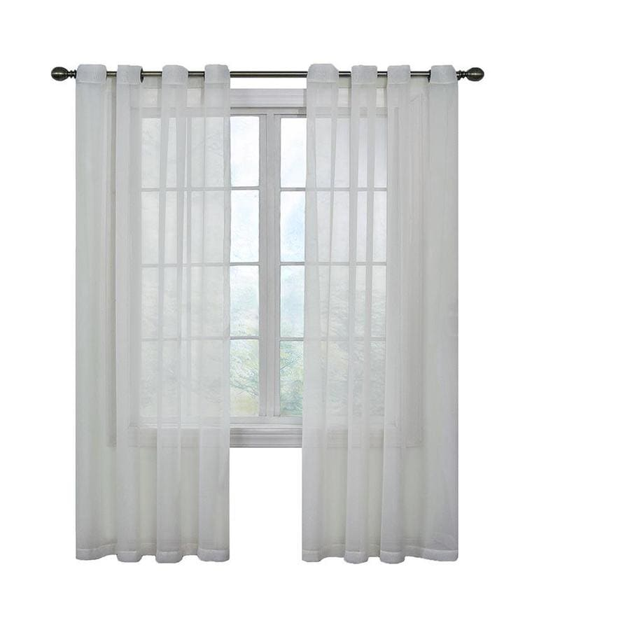 ARM & HAMMER Arm and Hammer 120-in White Polyester Grommet Sheer Single Curtain Panel