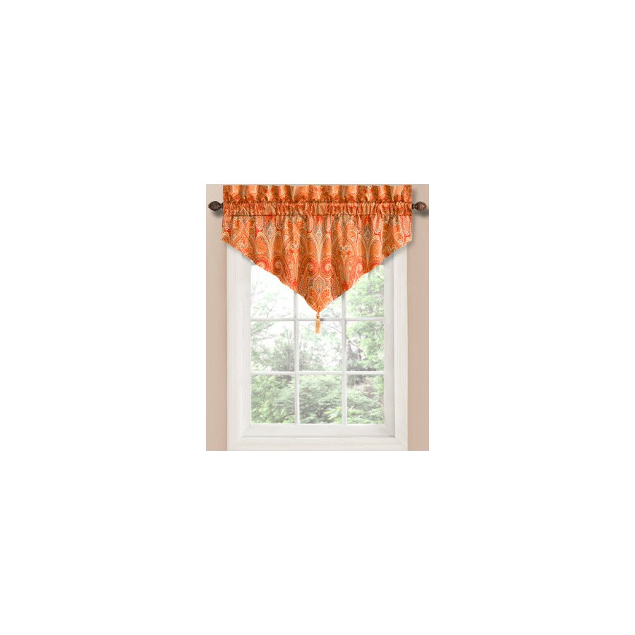 Waverly Waverly Home Classics 20-in Ruby Cotton Rod Pocket Valance