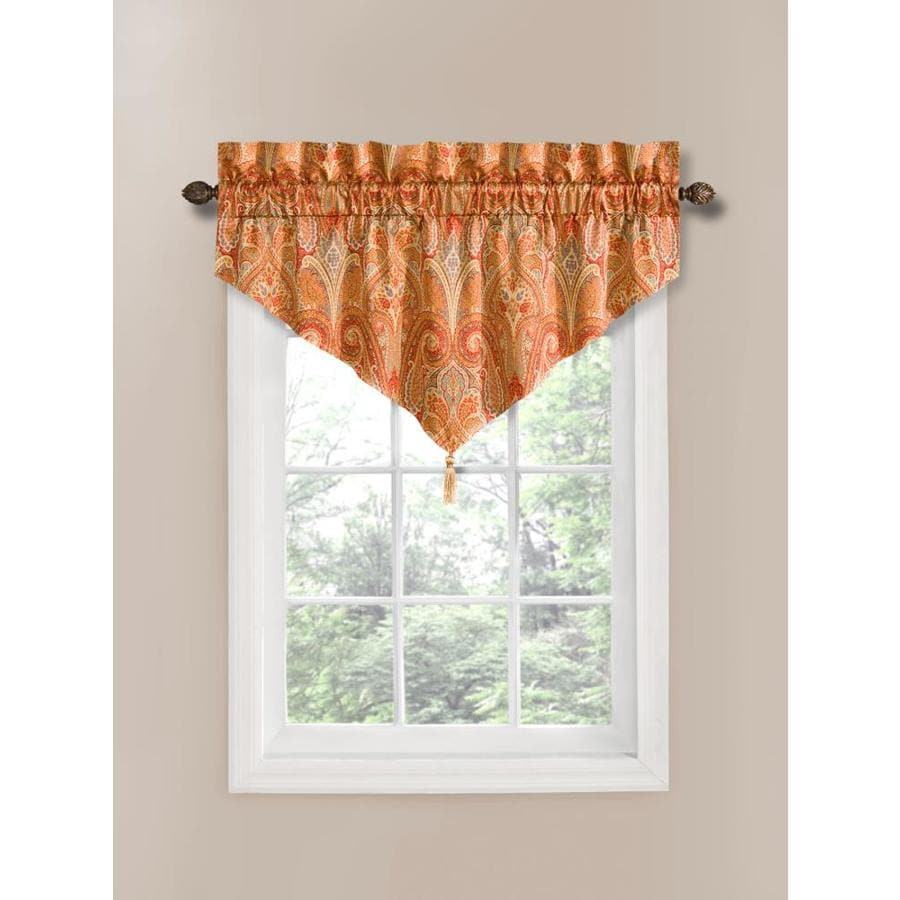 Shop Waverly Home Classics 20 In Pearl Cotton Rod Pocket Valance At