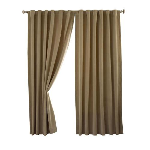 Absolute Zero 95 In Cafe Polyester Blackout Single Curtain