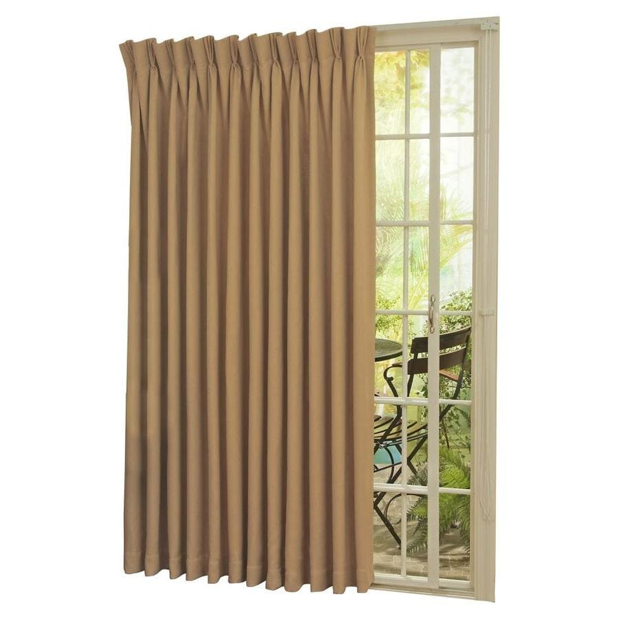 Shop Eclipse Thermal Patio Door 84 In Wheat Polyester Rod Pocket