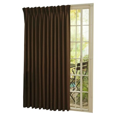 Eclipse Thermal Patio Door 84 In Espresso Polyester Blackout