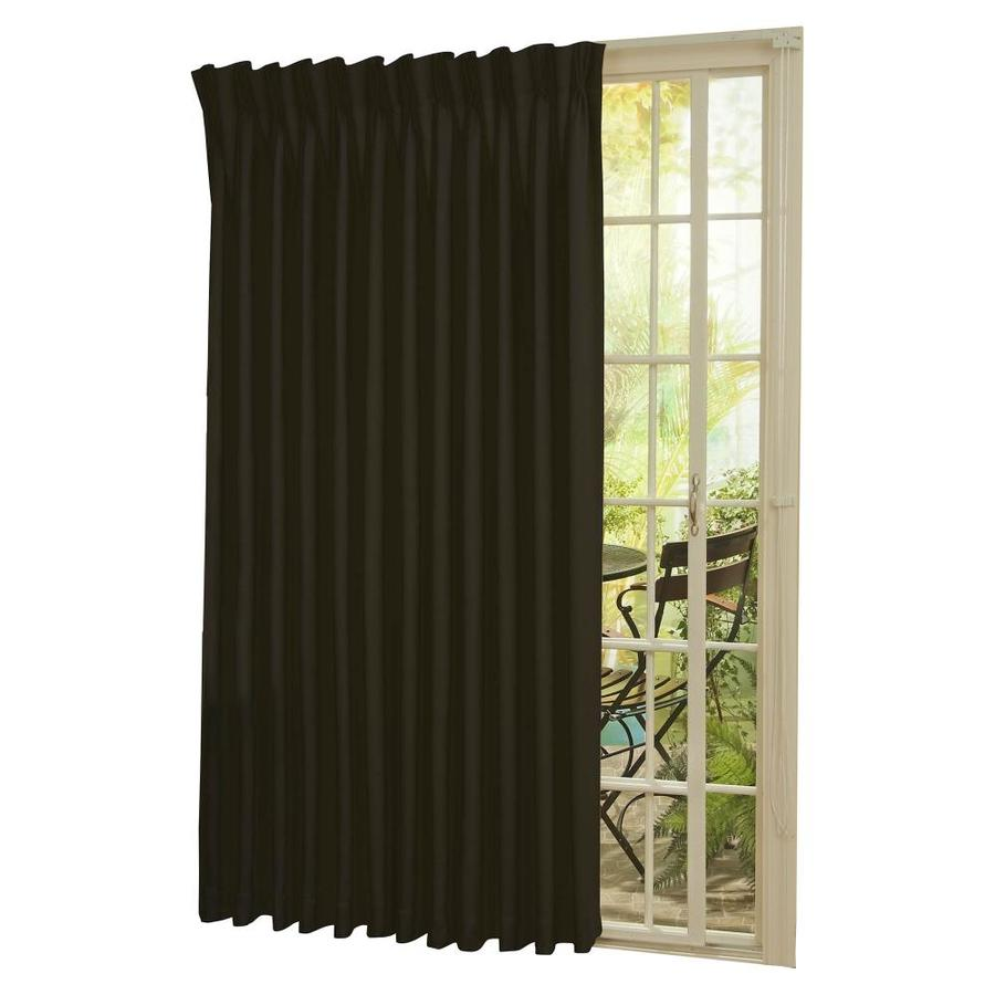 Eclipse Thermal Patio Door 84 In Black Polyester Rod Pocket Blackout