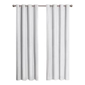 Eclipse Cassidy 84 In White Polyester Grommet Blackout Single Curtain Panel