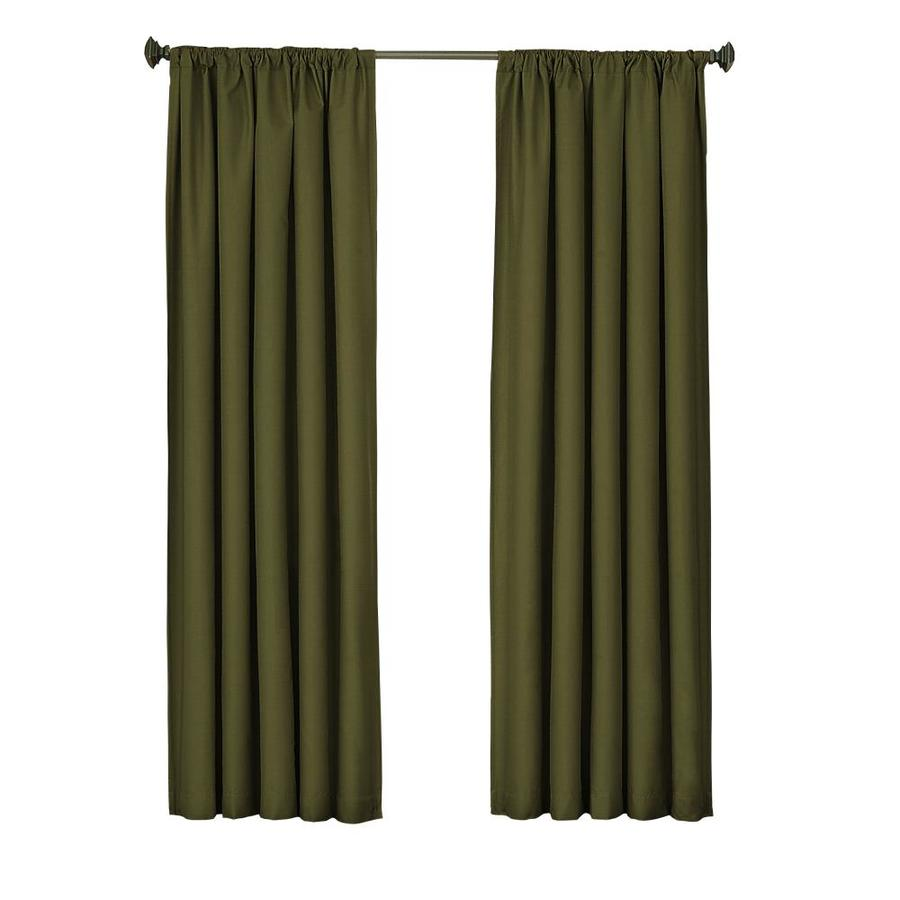 eclipse Kendall 95-in Artichoke Polyester Rod Pocket Single Curtain Panel
