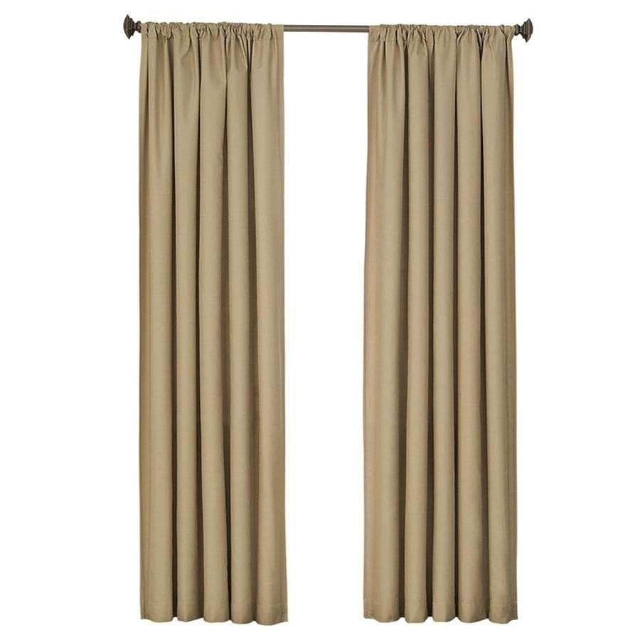 eclipse Kendall 95-in Cafe Polyester Rod Pocket Single Curtain Panel