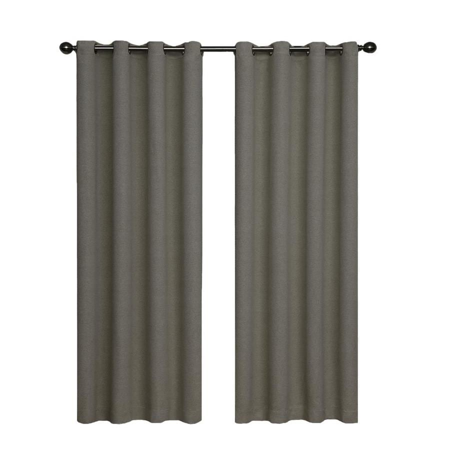 eclipse Bobbi 95-in Pewter Polyester Grommet Single Curtain Panel