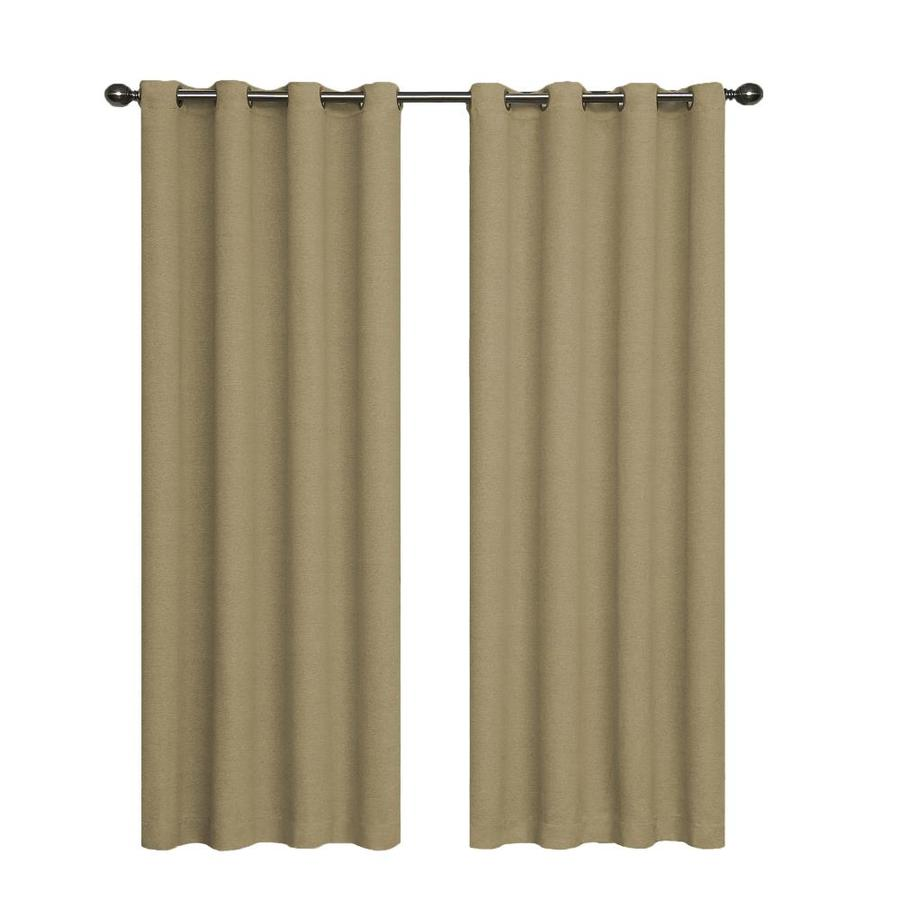 eclipse Bobbi 63-in Tan Polyester Grommet Single Curtain Panel