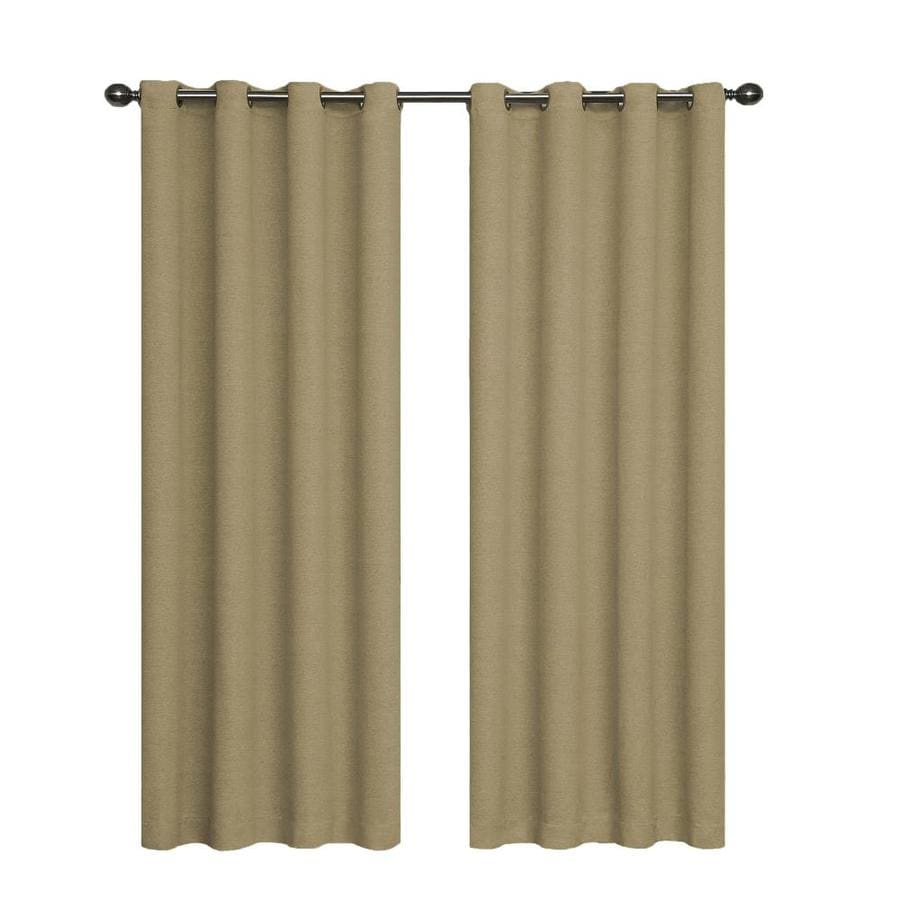 eclipse Bobbi 95-in Tan Polyester Grommet Single Curtain Panel