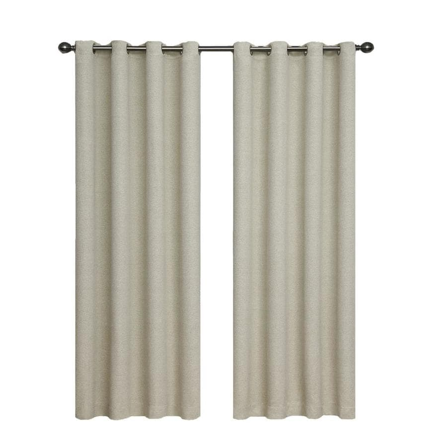 eclipse Bobbi 84-in Ivory Polyester Grommet Single Curtain Panel