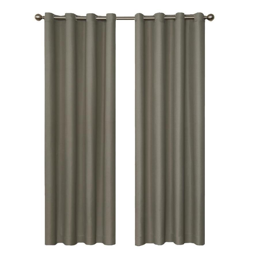 eclipse Dane 84-in Smoke Polyester Grommet Blackout Single Curtain Panel