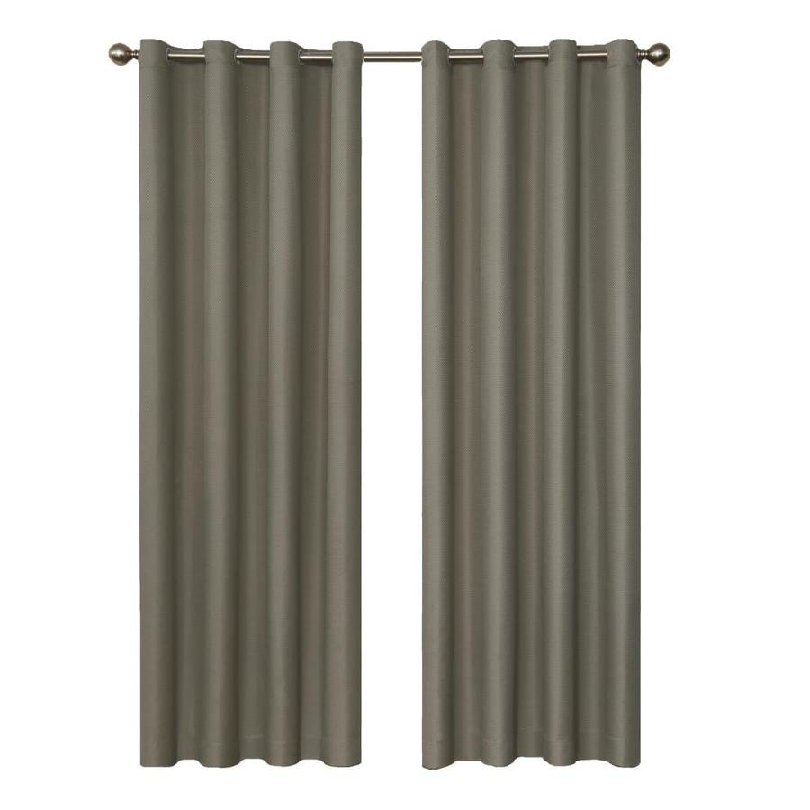 eclipse Dane 95-in Smoke Polyester Grommet Blackout Single Curtain Panel
