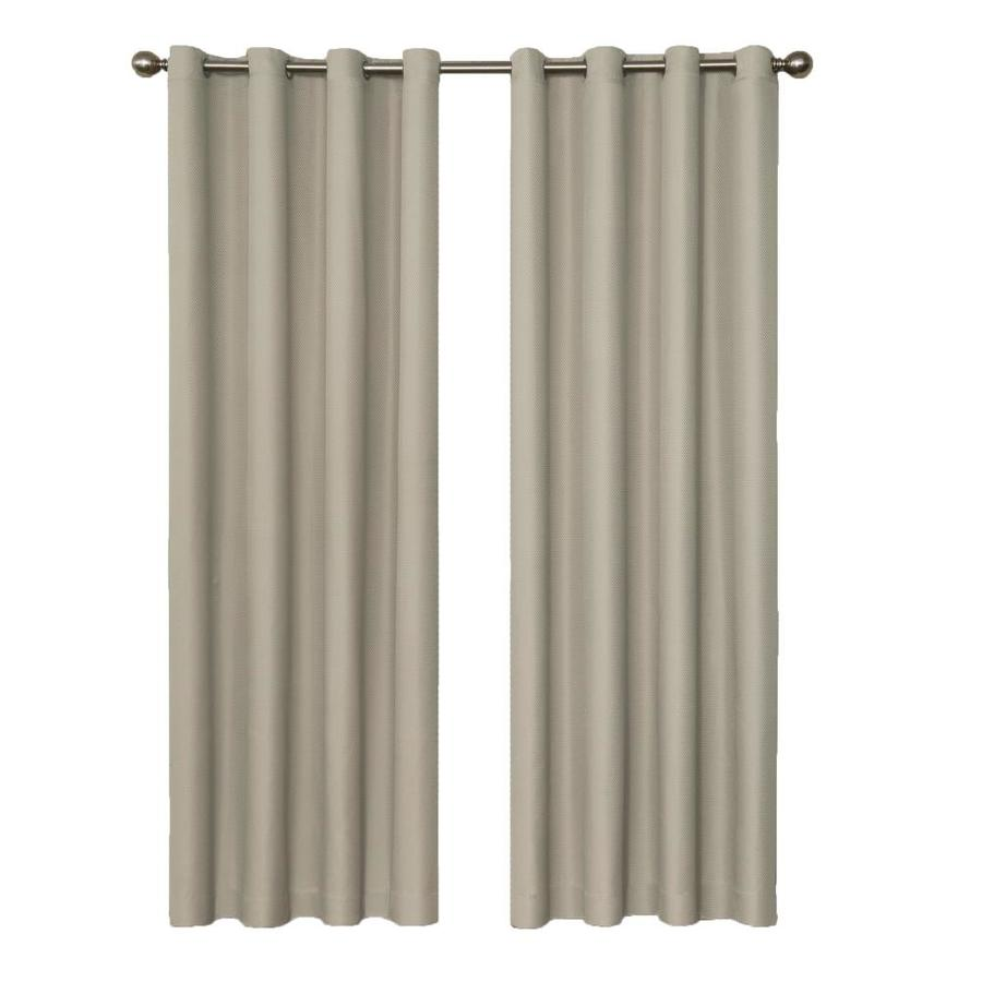 eclipse Dane 84-in String Polyester Grommet Blackout Single Curtain Panel