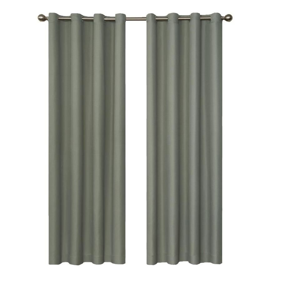 eclipse Dane 84-in River Blue Polyester Grommet Blackout Single Curtain Panel