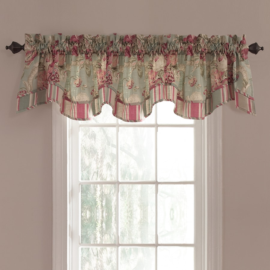 Waverly Spring Bling 18 In Vapor Cotton Back Tab Valance