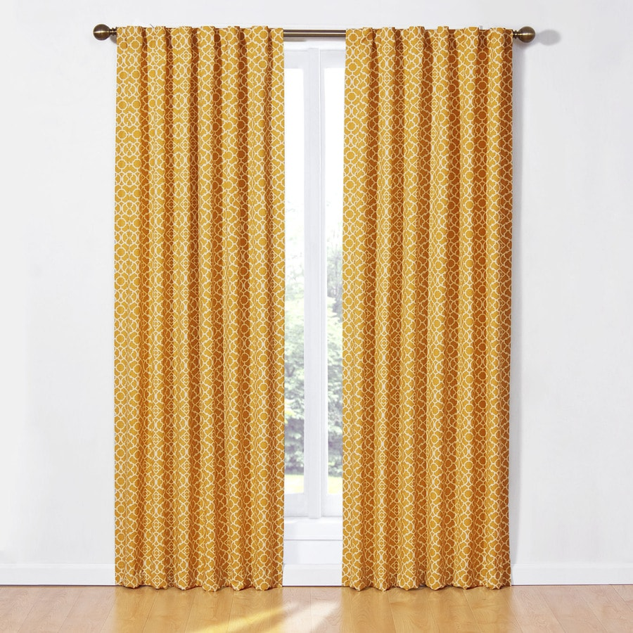 Waverly 84-in Mimosa Cotton Back Tab Light Filtering Single Curtain Panel