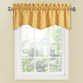 Waverly Lovely Lattice 16-in Mimosa Cotton Rod Pocket Valance