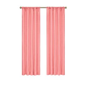 Eclipse Kendall 84 In Coral Polyester Rod Pocket Blackout Single Curtain Panel