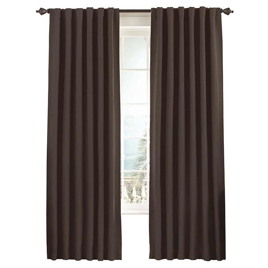eclipse Fresno 95-in Mushroom Polyester Rod Pocket Single Curtain Panel