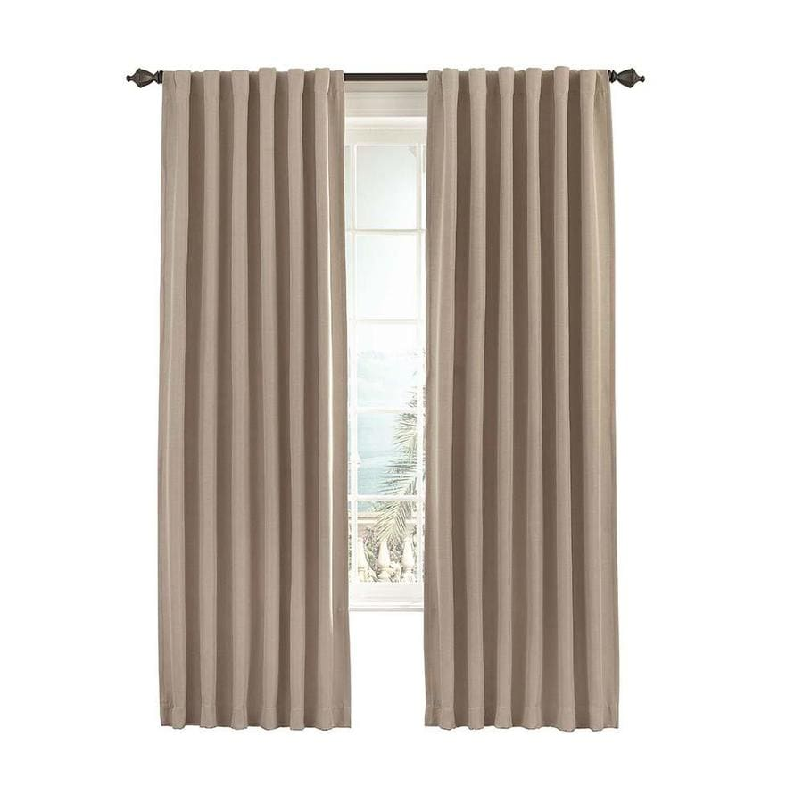 eclipse Fresno 95-in Wheat Polyester Rod Pocket Single Curtain Panel
