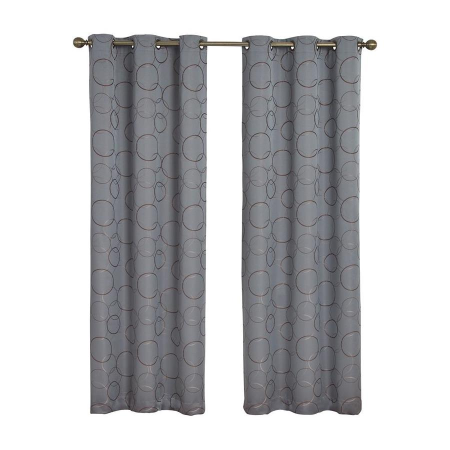 Eclipse Meridian 63 In River Blue Polyester Grommet Blackout Single Curtain Panel