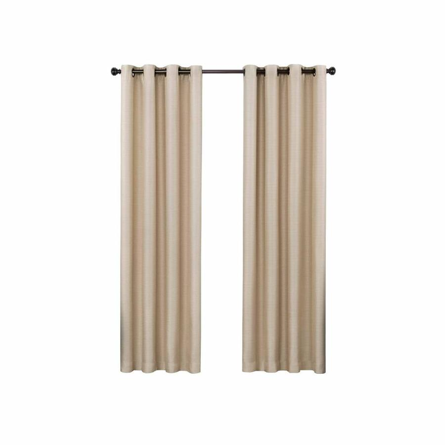 Eclipse Bryson 84 In Latte Polyester Grommet Blackout Single Curtain Panel