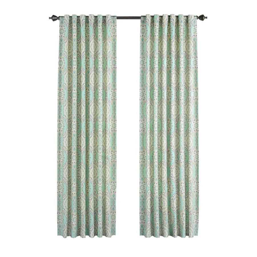 Waverly Moonlight Medallion 84-in Celestial Cotton Back Tab Single Curtain Panel