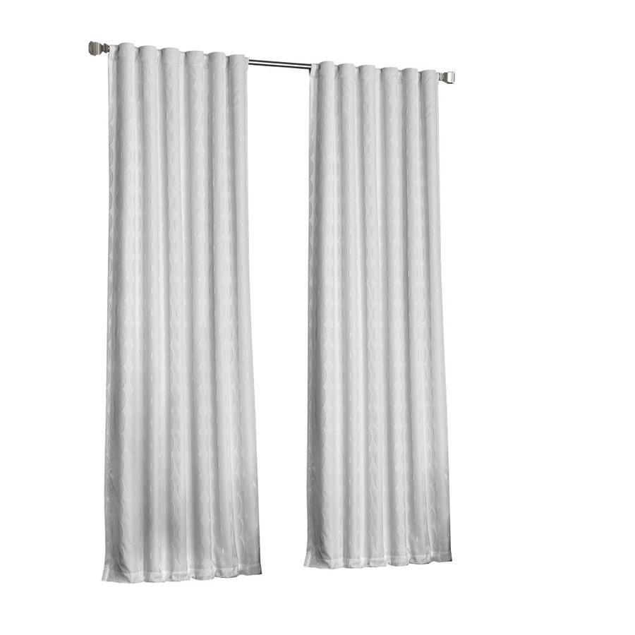 Eclipse Adalyn 108 In White Polyester Rod Pocket Blackout Thermal Lined Single Curtain Panel