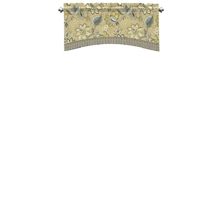 Waverly Brighton Blossom 18-in Flax Cotton Rod Pocket Valance