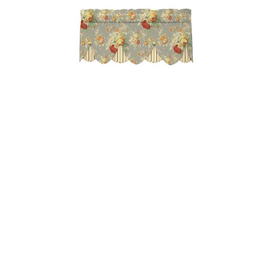 Waverly Sanctuary Rose 18-in Clay Cotton Rod Pocket Valance