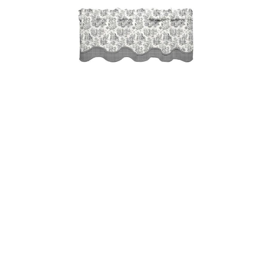 Waverly Charmed Life 18-in Onyx Cotton Rod Pocket Valance